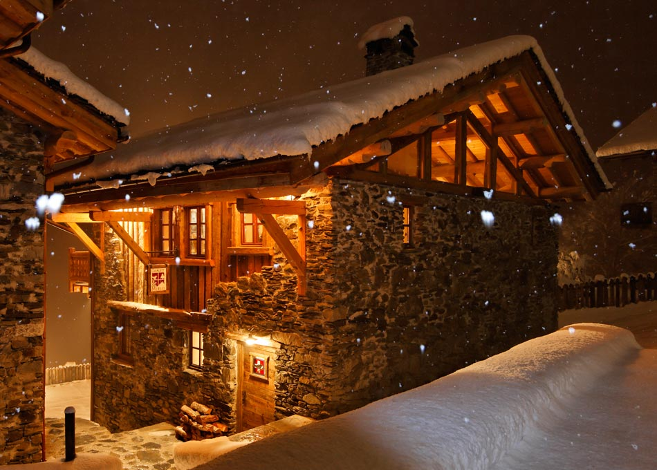 Chalet Merlo at Night